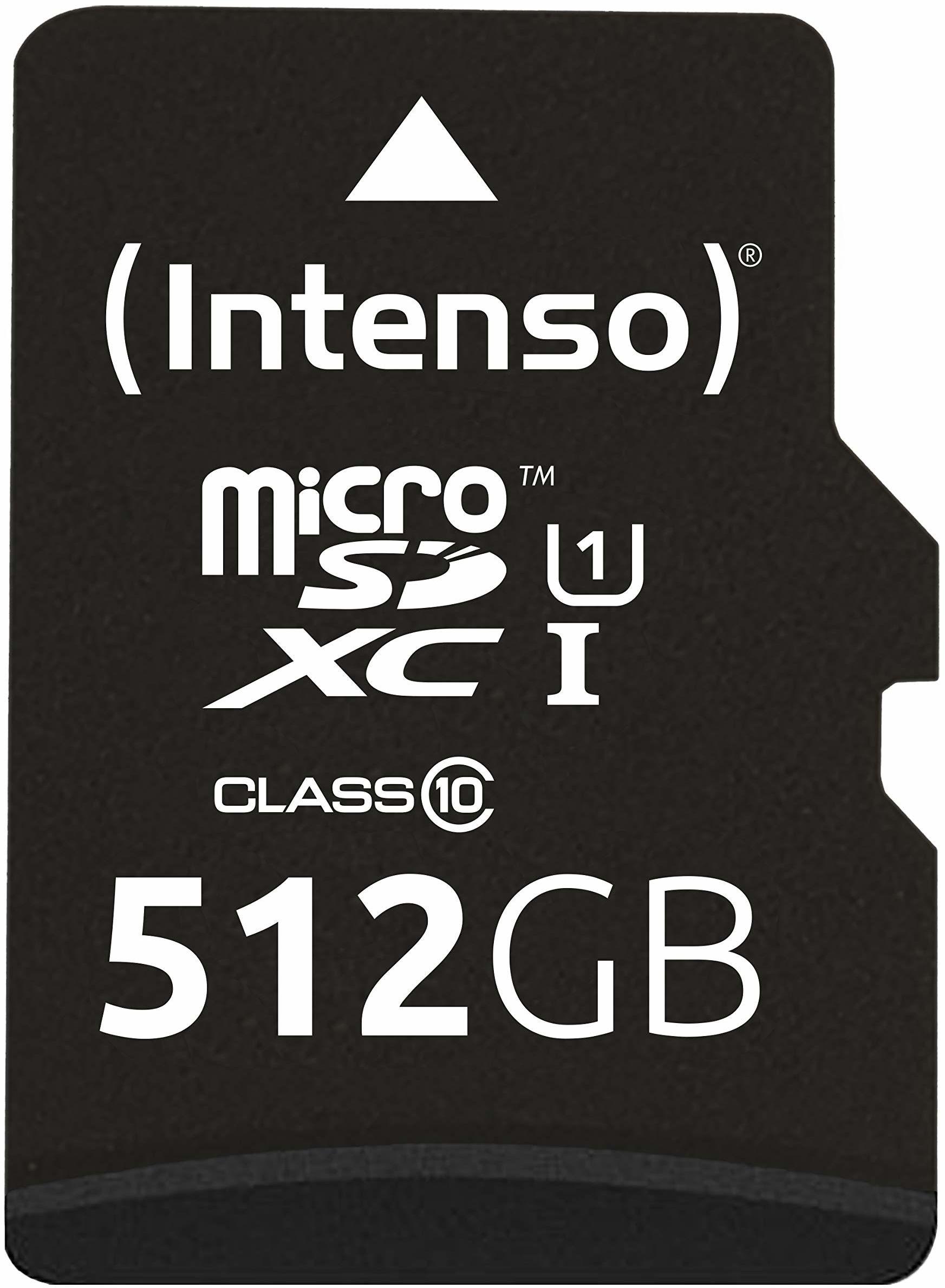Intenso Micro SDXC 512GB Class 10 karta pamięci z adapterem SD (UHS-I)