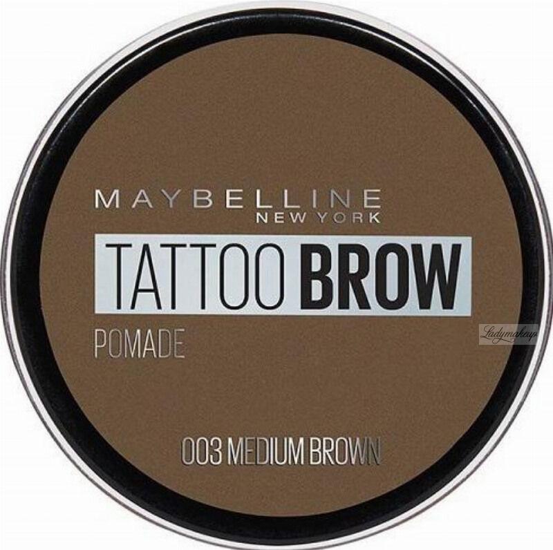 MAYBELLINE - TATTOO BROW Lasting Color Pomade - Wodoodporna pomada do brwi - 03 MEDIUM BROWN