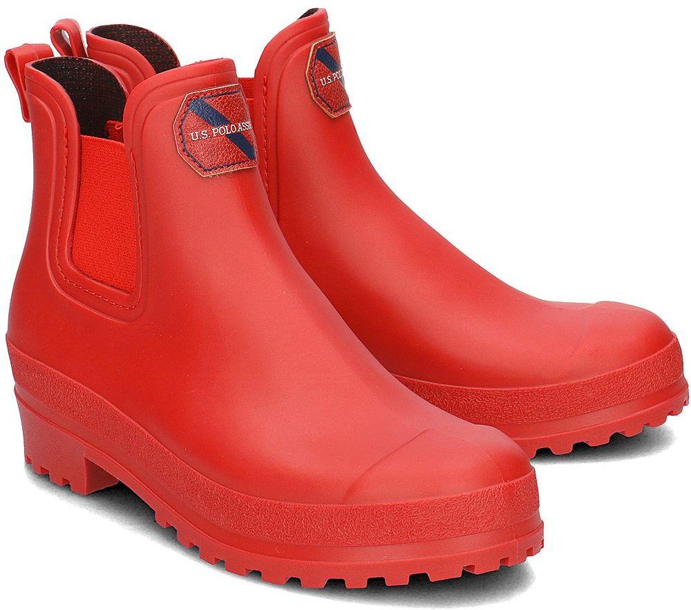 U.S. Polo Assn Wetness - Kalosze Damskie - YUBER2181W8/G1 RED - Czerwony