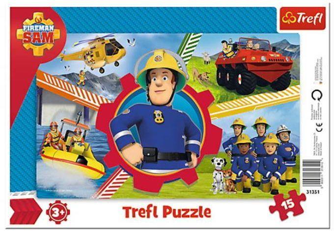 Puzzle ramkowe 15 Dzień Strażaka Sama TREFL