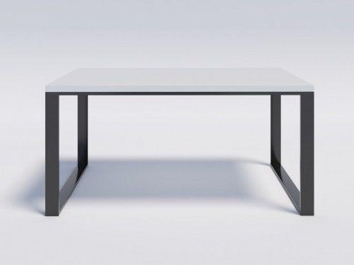 Stół z białym blatem modern loft RENO 160/90