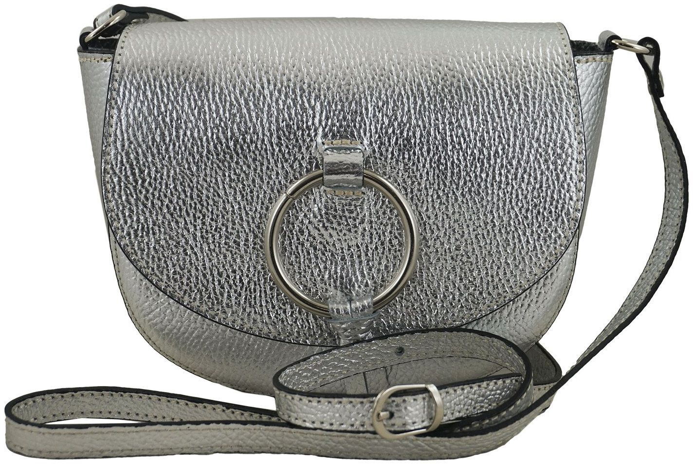 Barberini''s - torebki listonoszki damskie skórzane - Srebrna