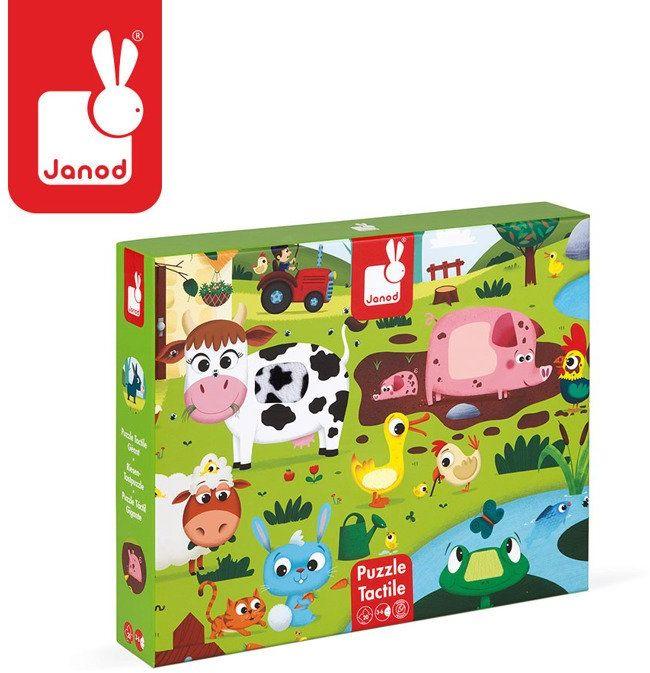Puzzle dla dzieci wesoła farma J02772-Janod, układanka edukacyjna