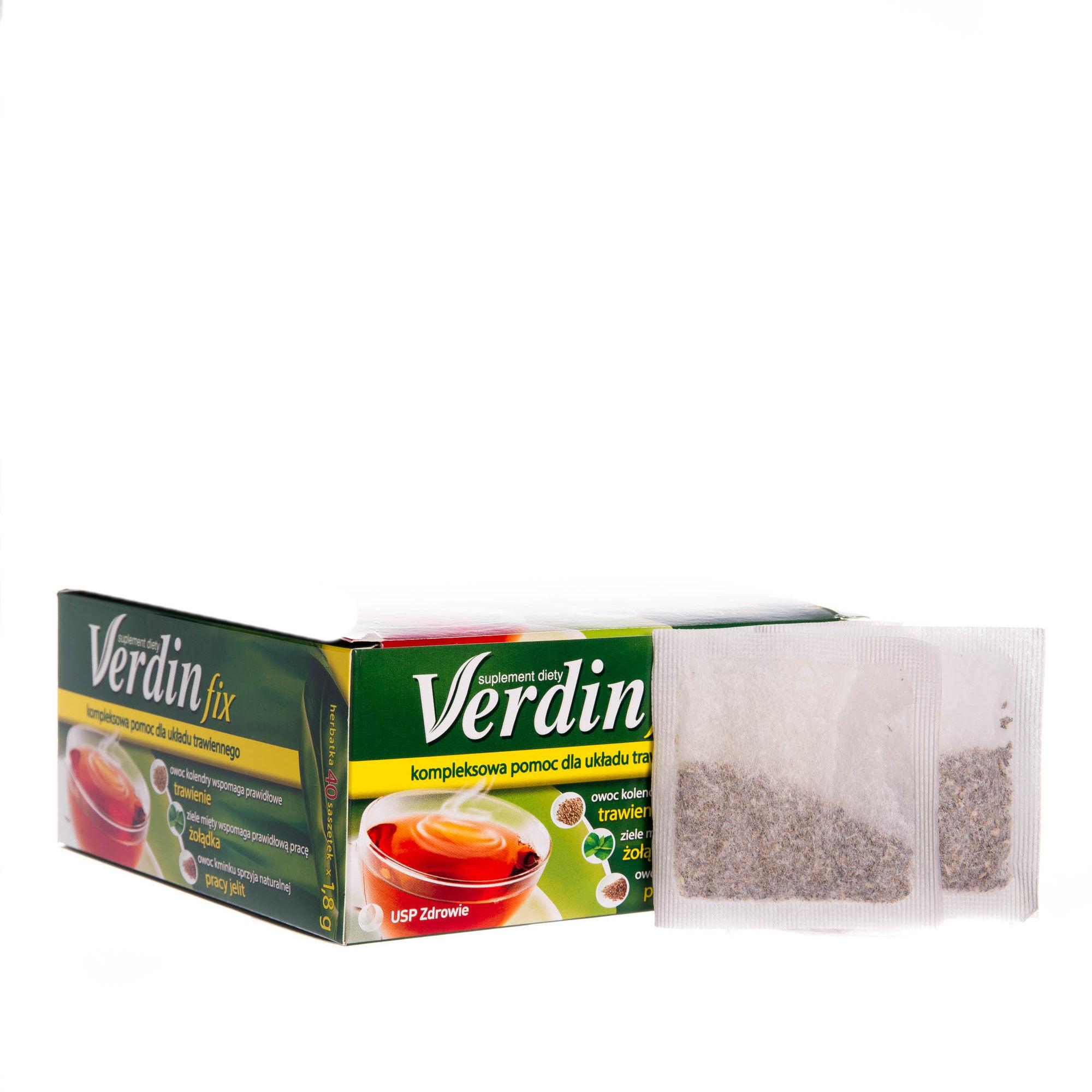 Verdin Fix Suplement diety kompozycja 6 ziół 40sasz.