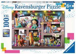 Ravensburger Puzzle 10410 Ravensburger Disney Bohaterowie 100 Elementów Puzzle Dla Dzieci (10410) Unikalne Elementy, Technologia Softclick - Klocki Pasują Idealnie