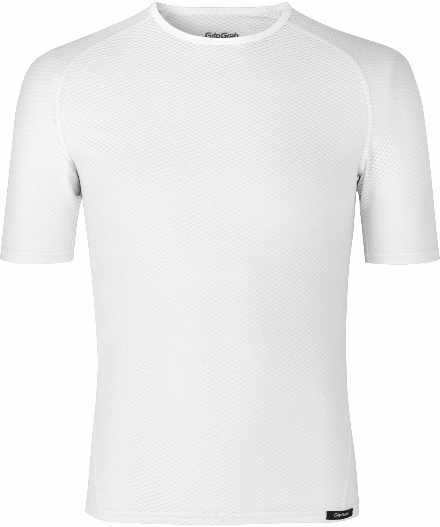 GripGrab Uniseks  ultralekki podkoszulek dla dorosłych, z krótkim rękawem, Cool Mesh, na lato, do jazdy na rowerze, kolor biały, XS