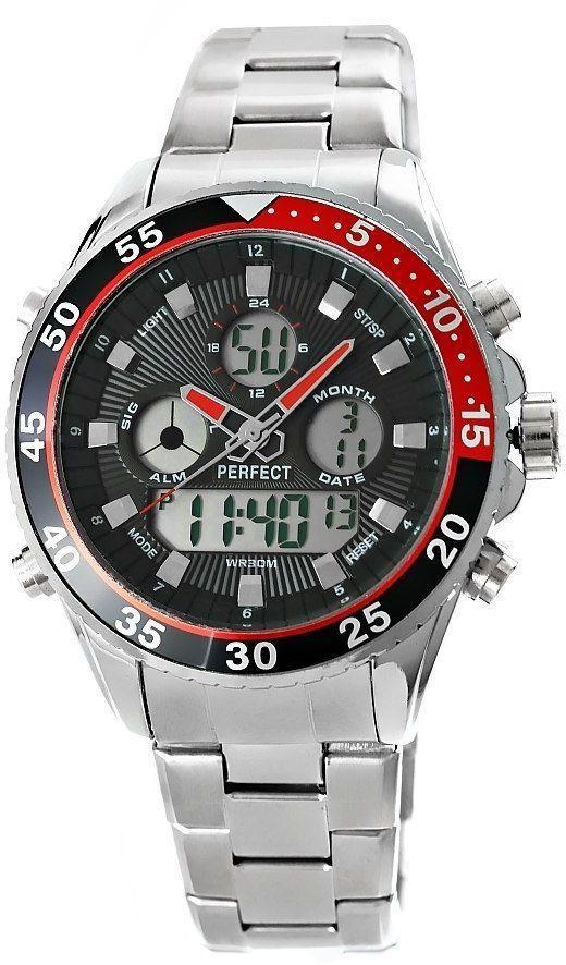 Zegarek Męski Perfect A880-1 Dual Time Iluminacja
