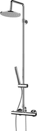 Omnires Mini system prysznicowy natynkowy okrągły termostat MI1544-X/OCR