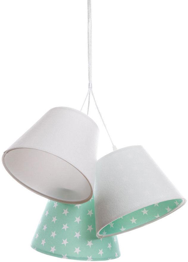 Biało-zielona dziecięca lampa wisząca w gwiazdki - EXX73-Leticia