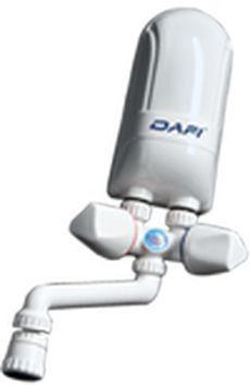 Nadumywalkowy elektryczny przepływowy ogrzewacz wody Dafi biały 4,5 kW z baterią