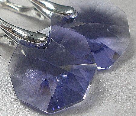 Kryształy piękne kolczyki SREBRO Tanzanit