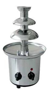 Czekoladowa fontanna chromowana 800 g śr. 170W 220-240V śr. 210x(H)400mm