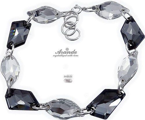Swarovski Elegancka Bransoletka Night Leaf Crystal