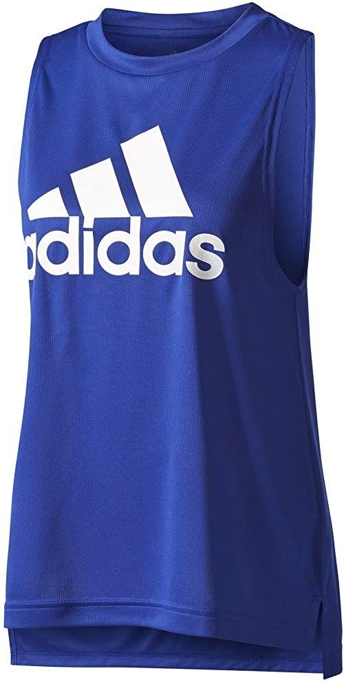adidas Damski top bokserski z logo Tanktop niebieski Mysink. XS