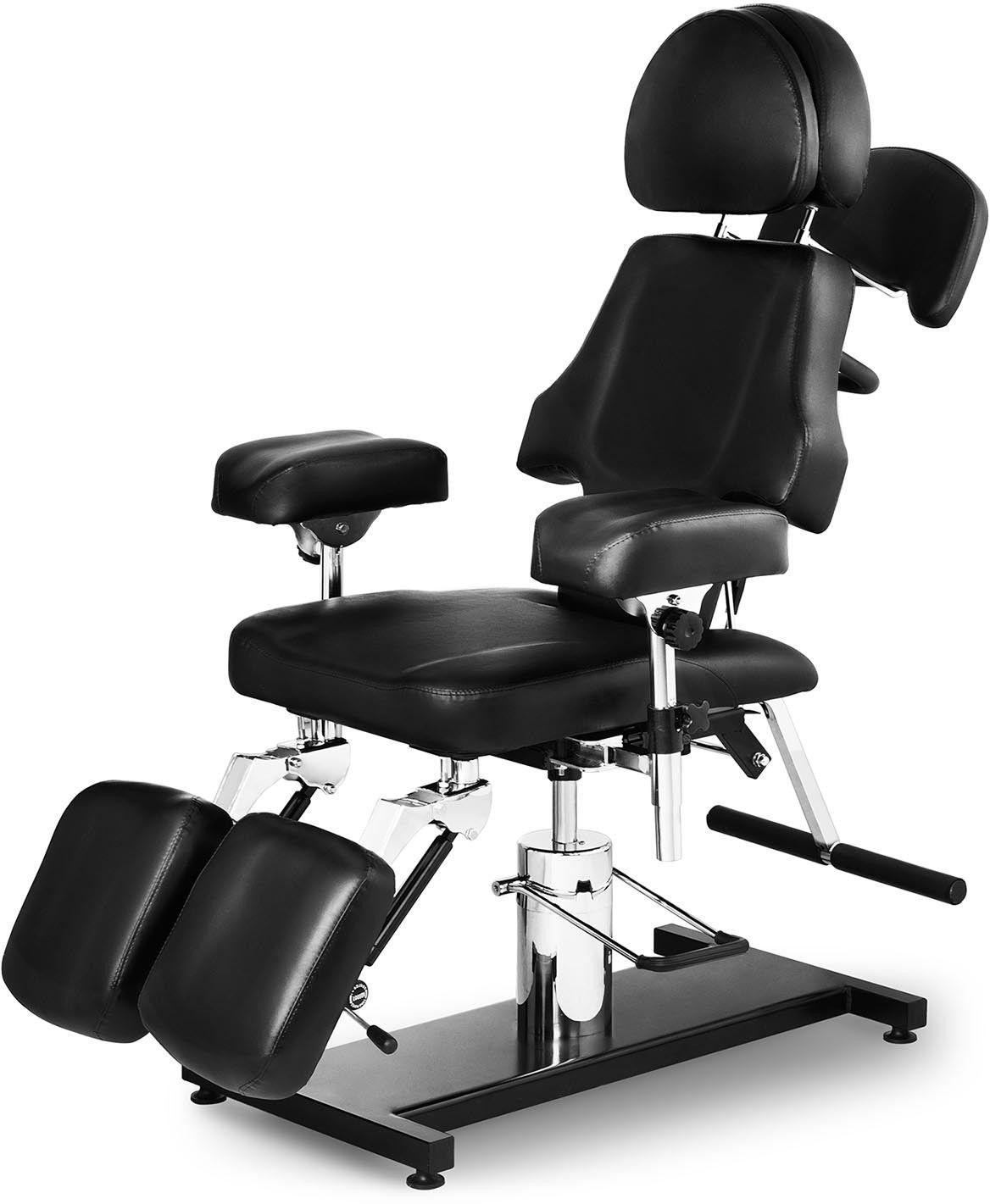 Fotel do tatuażu Dallas - czarny - physa - PHYSA DALLAS BLACK - 3 lata gwarancji/wysyłka w 24h
