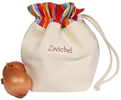 Worek na warzywa z bawełny, na cebulę, praktyczny i piękny do przechowywania, 18 x 24 cm