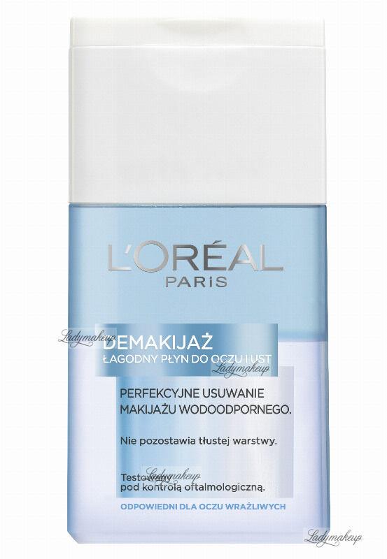 L''Oréal - Łagodny płyn do wodoodpornego demakijażu oczu i ust