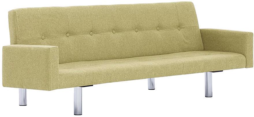 Rozkładana sofa Nesma z podłokietnikami - zielona