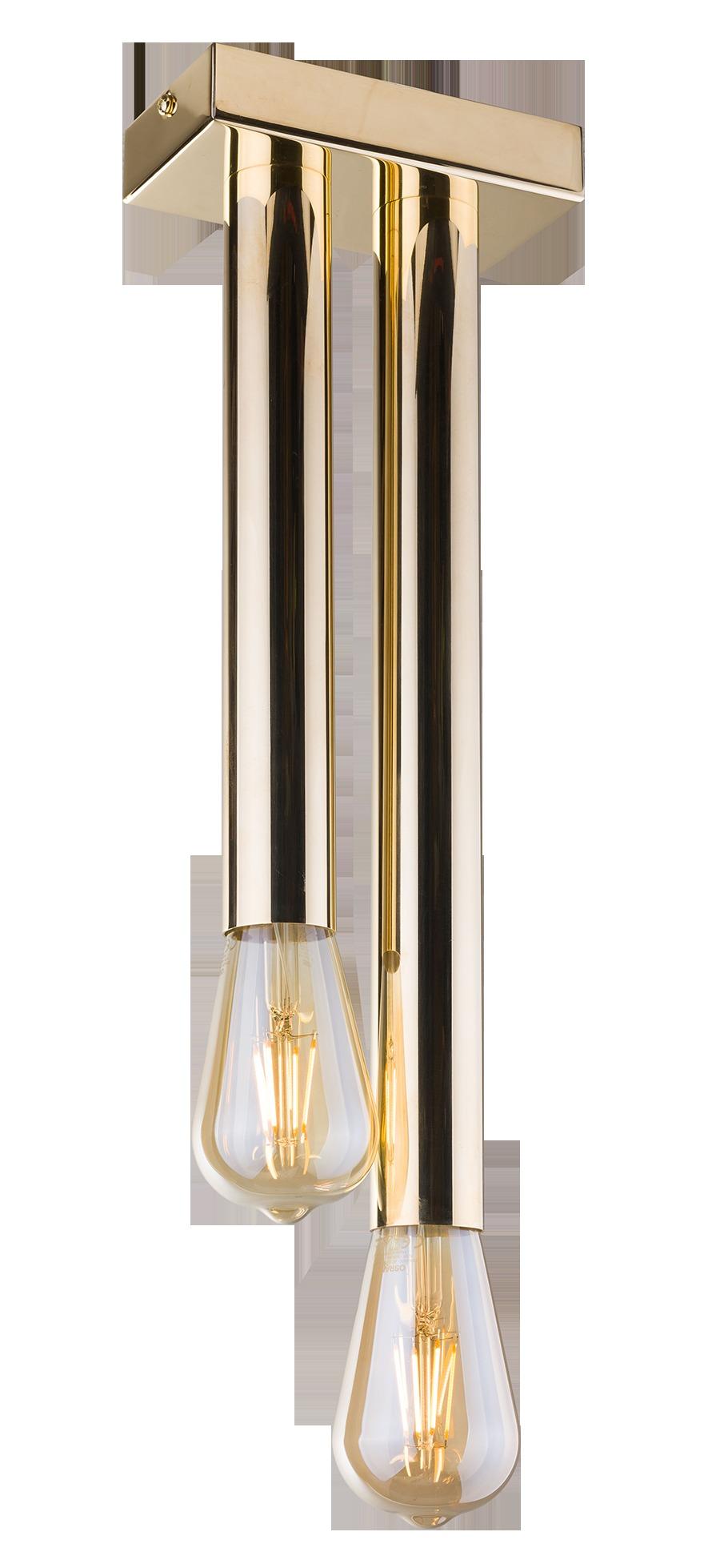 Lampa sufitowa Lagos 2 Złoty 0627 - Amplex // Rabaty w koszyku i darmowa dostawa od 299zł !