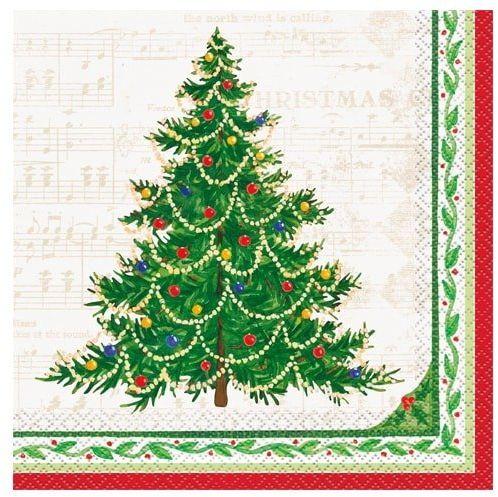 Serwetki z choinką na Boże Narodzenie - 33 cm - 16 szt.