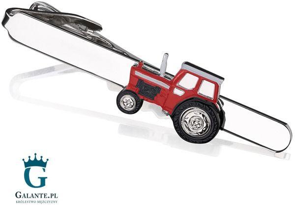 Spinka do krawata czerwony traktor sk-1366