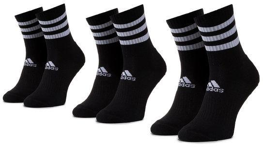 adidas Zestaw 3 par wysokich skarpet unisex 3s Csh Crw3p DZ9347 Czarny