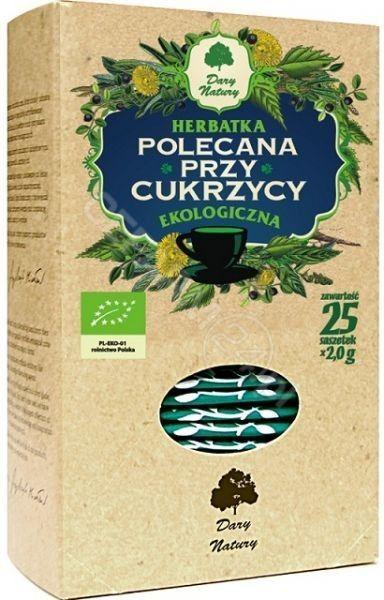 Dary Natury Ekologiczna herbatka polecana przy cukrzycy 50 g (25 x 2,0 g)