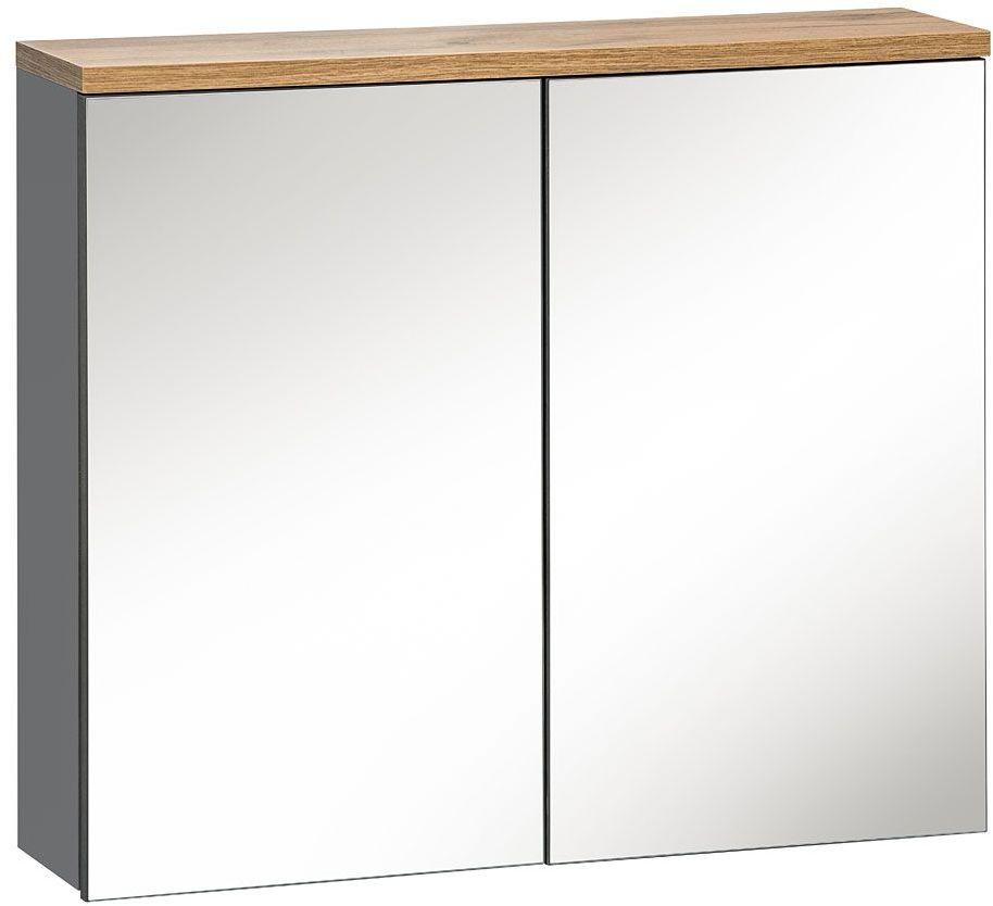 Szafka łazienkowa z lustrem - Marsylia 6X grafit 60 cm