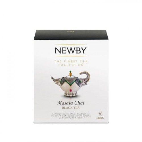 Herbata Newby Masala Chai w piramidach 15 szt.