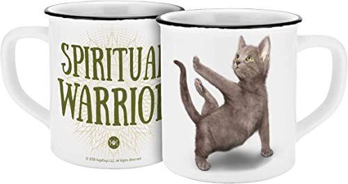 Yoga Dogs & Cats 13546 Yoga Cats Warrior filiżanka, kubek ceramiczny, filiżanka do kawy, ceramika, 400 ml