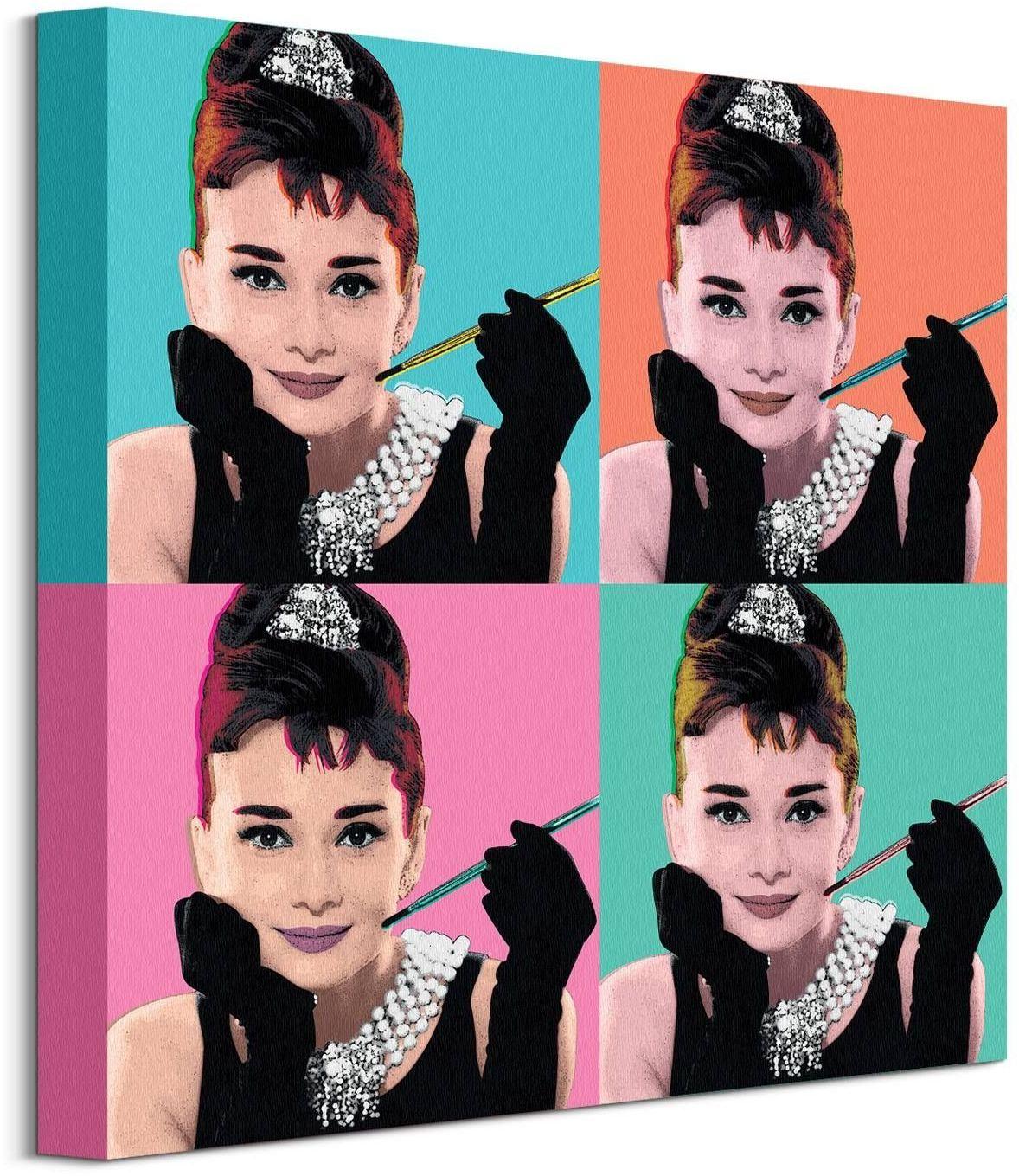 Audrey hepburn pop art - obraz na płótnie