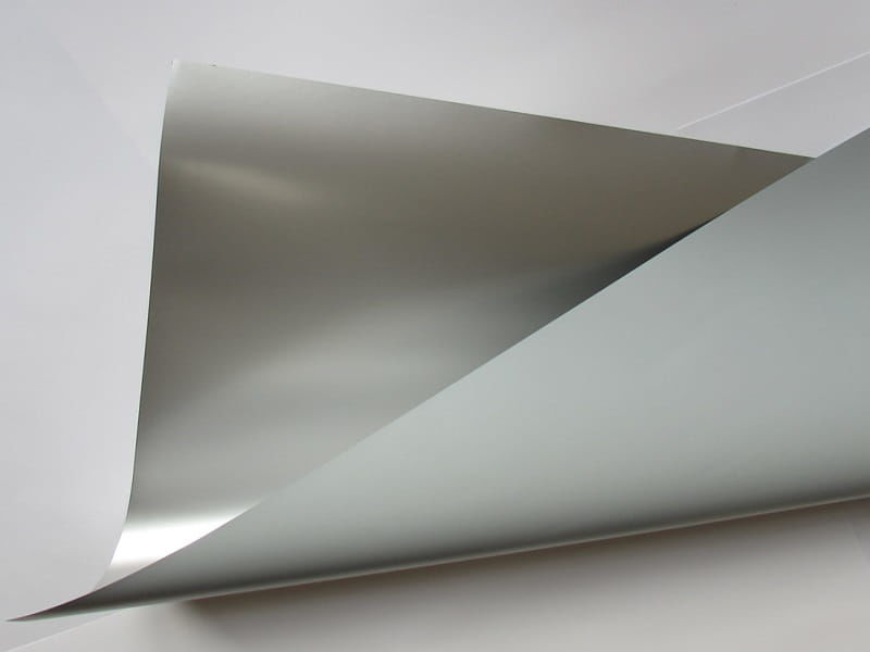 Papier samoprzylepny ozdobny Metal 80 Silver Gloss (srebrny) błyszczący nacinany 80g 50x70 cm