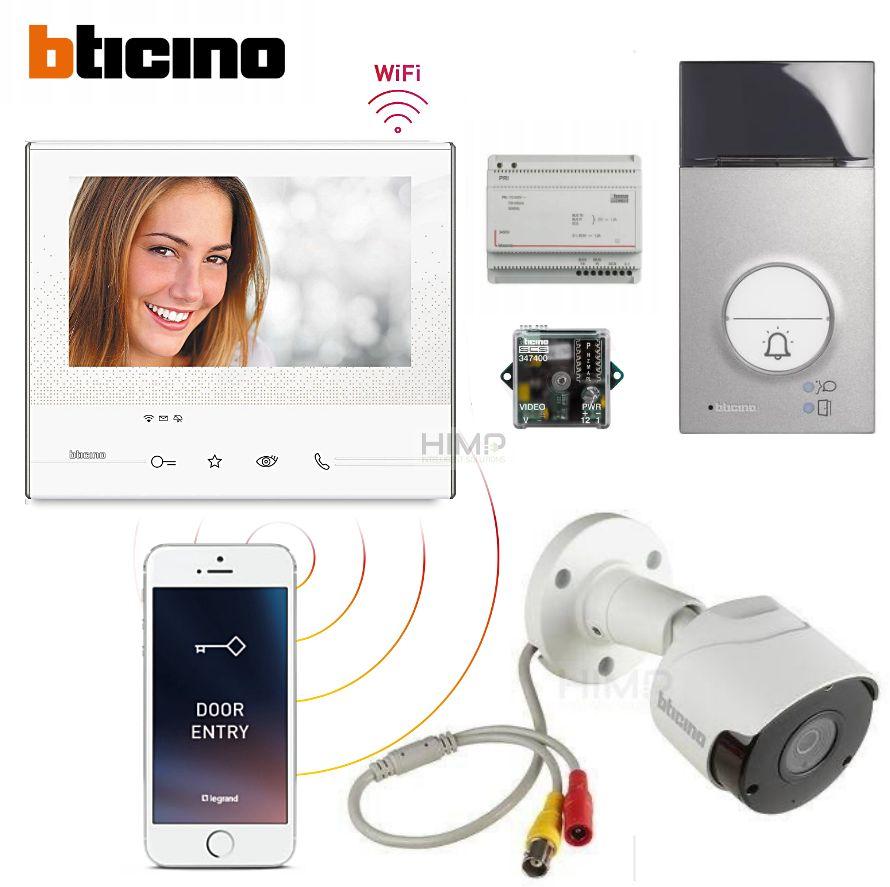 Zestaw Wideodomofonowy z WiFi Bticino Classe300X13E kamera FullHD