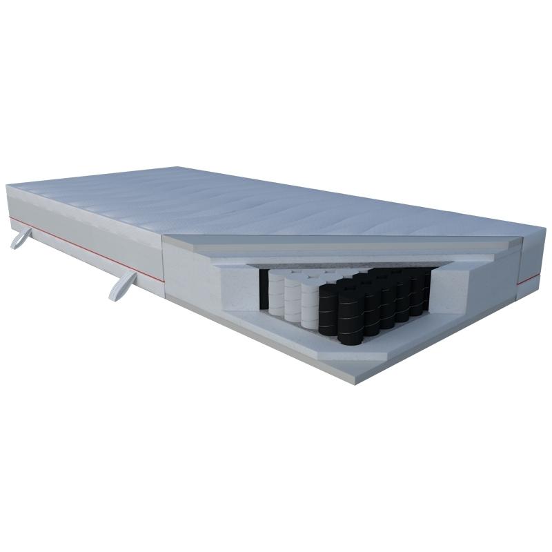 Materac CORA JANPOL kieszeniowy : Rozmiar - 200x200, Pokrowce Janpol - Silver Protect