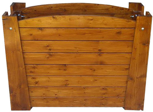 Prostokątna drewniana donica ogrodowa - Akoja