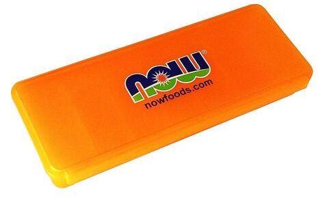 Organizer na tabletki Now foods - pomarańczowy
