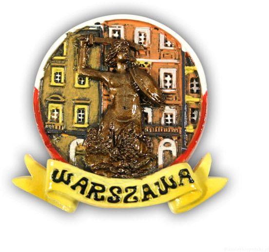 Magnes glazurowany Warszawa Syrenka