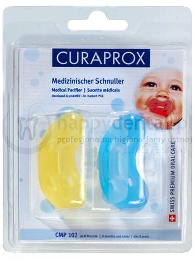 CURAPROX CMP 101 Rozmiar.1 - dwa medyczne smoczki dla niemowlaka do 7 miesiąca