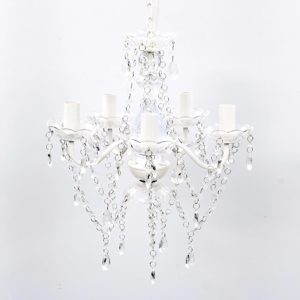 Biały kryształowy żyrandol do salonu - E960-Lovet