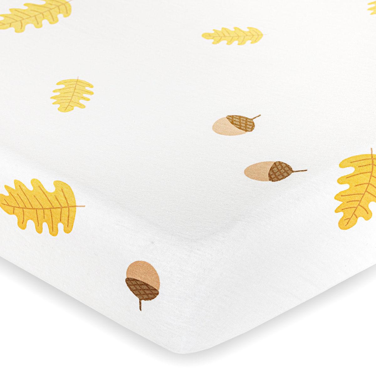 4Home jersey prześcieradło Jesień, 100 x 200 cm, biały, 100 x 200 cm