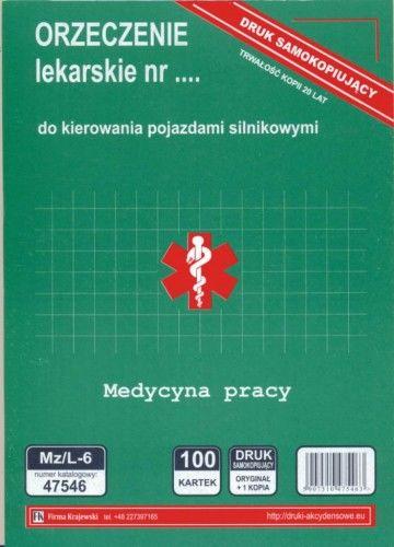Orzeczenie lekarskie dla kierowców [Mz/L-6]