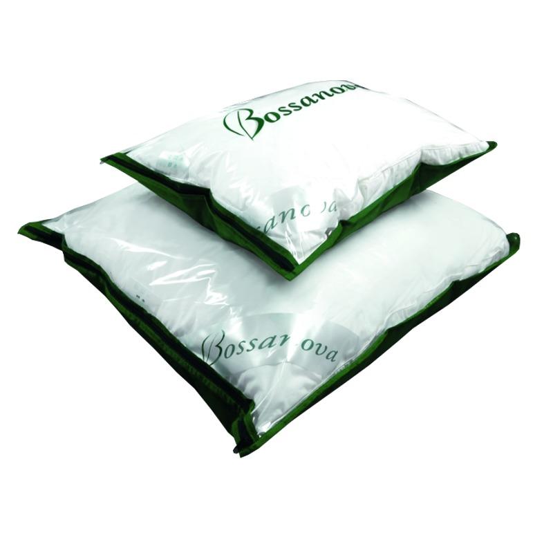 Poduszka jednokomorowa BOSSANOVA SOFT półpuchowa : Rozmiar poduszki - 40x40, Rodzaje wsypów - Ecru