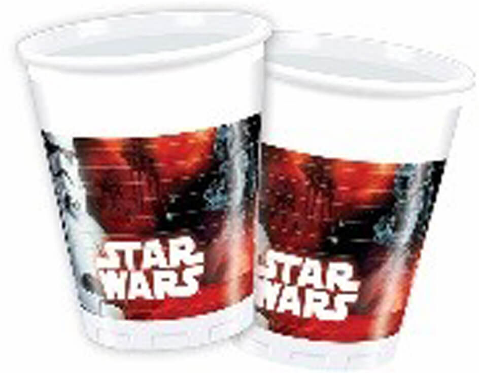 Kubeczki urodzinowe Star Wars Dark Side - 200 ml - 8 szt.
