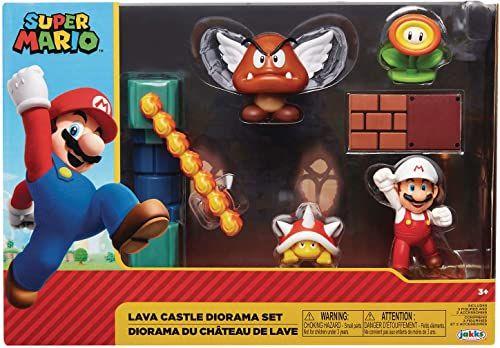 Jakks Pacific - Nintendo 2-1/2 Lava Castle Diorama Set CS (Net)