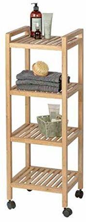WENKO Gomo wieszak na ubrania, drewno, brązowy, 2,5 x 0,2 x 500 cm
