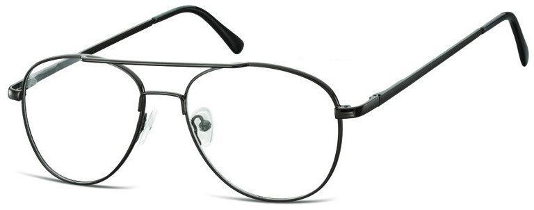 Pilotki zerówki Okulary Oprawki metalowe korekcyjne 791