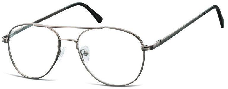 Pilotki zerówki Okulary Oprawki metalowe korekcyjne 791A