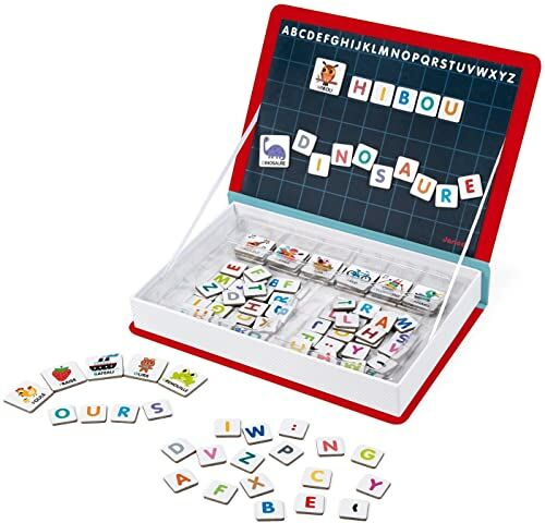 Janod J02711 Magneti''Book Alfabet gra edukacyjna, wersja francuska