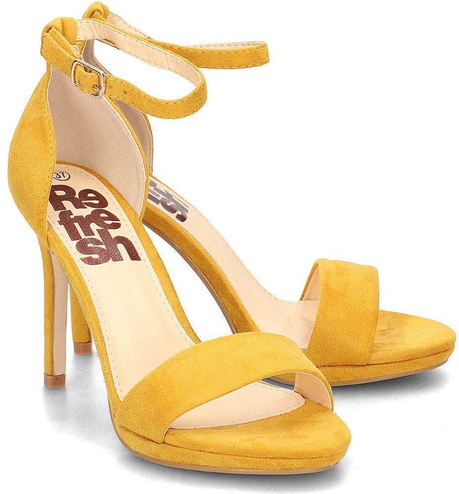 Refresh - Sandały Damskie - 69840 AMARILLO - Żółty