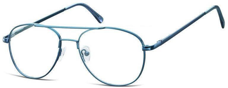 Pilotki zerówki Okulary Oprawki metalowe korekcyjne 791B